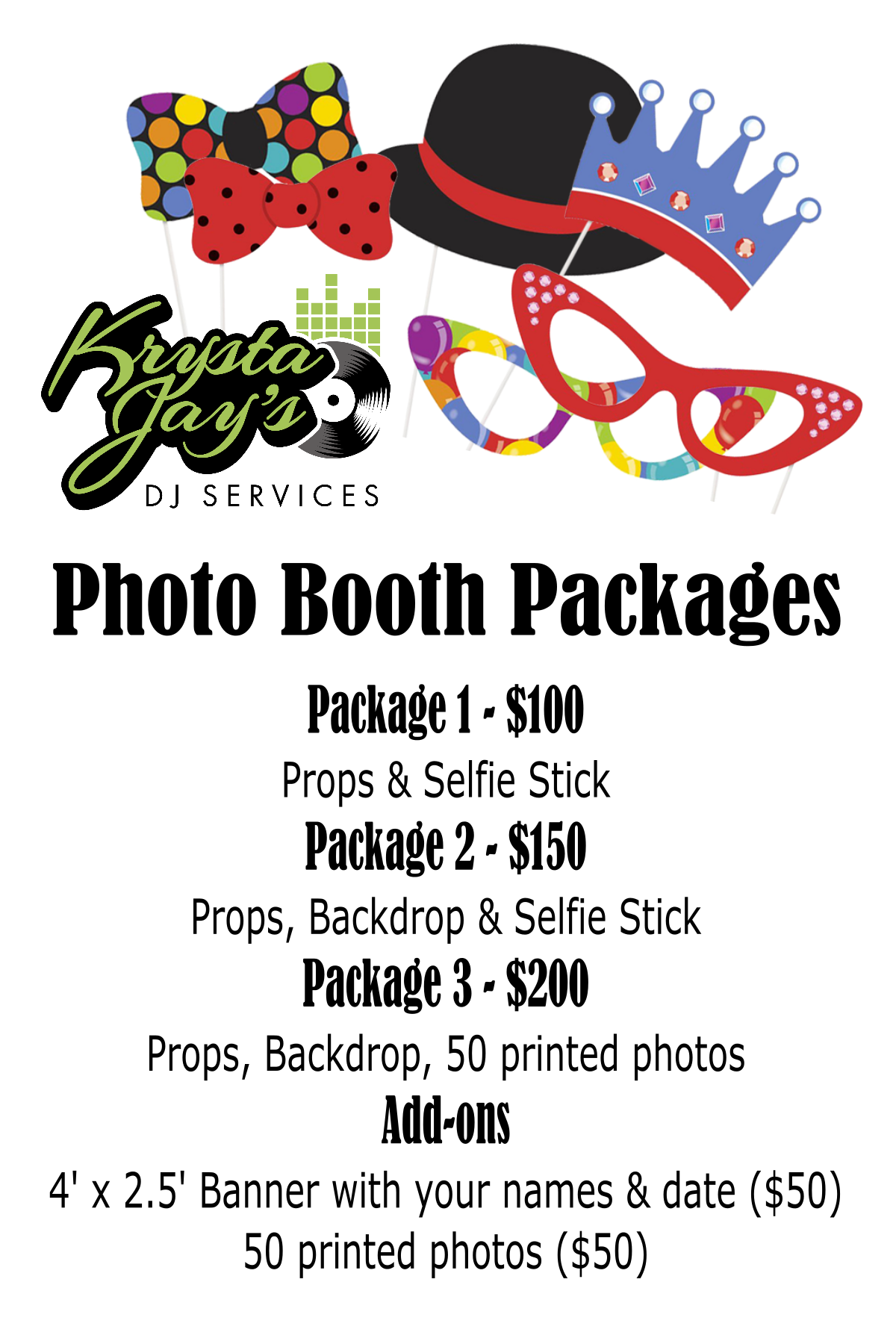 PHOTO BOOTH RATE CARD for website
